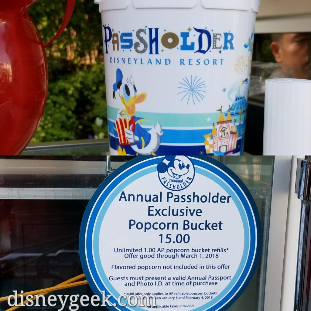 Disneyland Halloween Popcorn Bucket 2018.Current Disneyland Annual Pass Popcorn Bucket Refill
