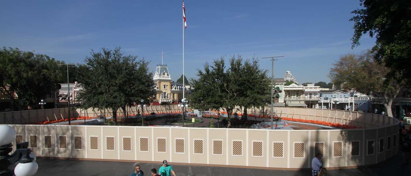 Disneyland Main Street USA Horse-Drawn Streetcar Track Project (1/12)
