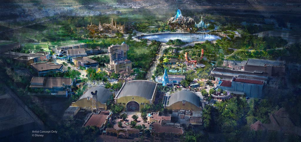 Disneyland Paris Studios Expansion Concept Art