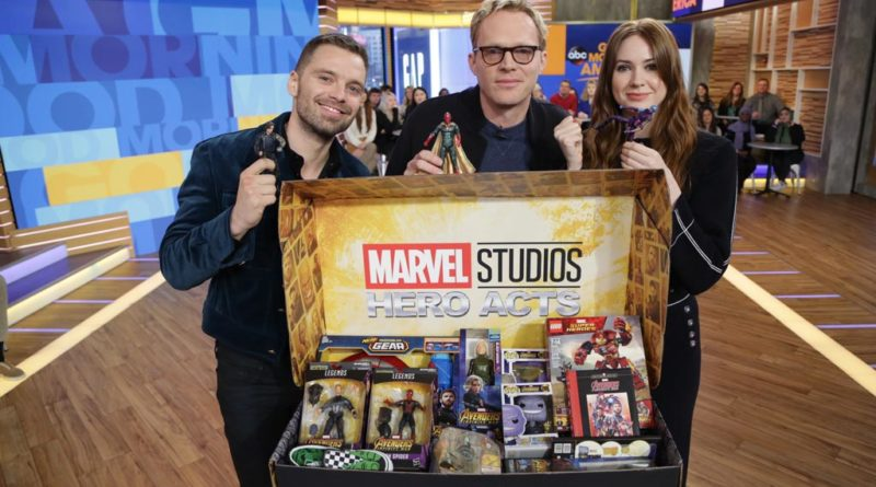 Sebastian Stan, Karen Gillan and Paul Bettany from Good Morning America appearance