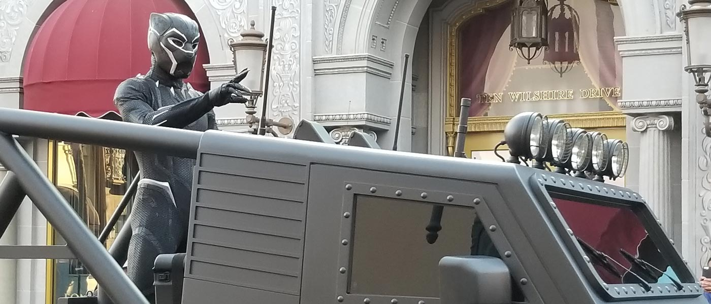 Black Panther at Disney California Adventure (several pictures )