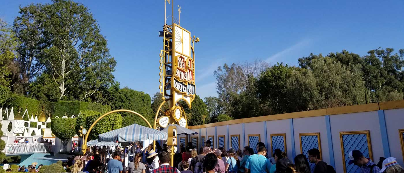 Disneyland – Small World Mall Parade Route Construction Pictures