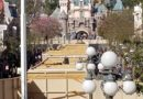 Disneyland Main Street USA – Streetcar Track Replacement & Construction Wall Pictures