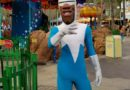 Frozone from the Incredibles hanging out in Paradise Pier