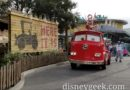 Red arriving at the Cozy Cone in Cars Land