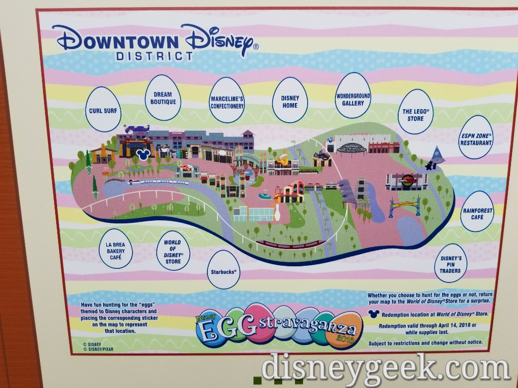 2018 Egg Stravaganza – Downtown Disney Egg Hunt – The Geek's Blog Downtown Disney Anaheim Map on