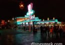 Cars Land as a light drizzle has started
