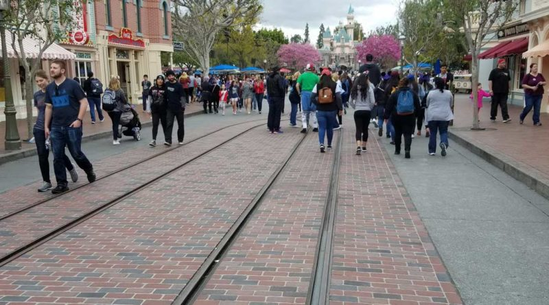 Disneyland Main Street USA Brick work / Streetcar Track Replacement