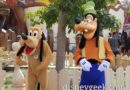 Pluto & Goofy in Mickey's Toon Town at Disneyland