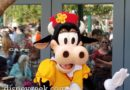 Clarabelle Greeting Guests Near Her Ice Cream Shop on Buena Vista Street