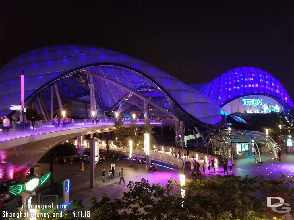 Shanghai Disneyland Tron Tomorrowland At Night Pictures