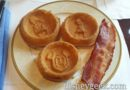 Magic Kingdom Club Waffles to start the day at Shanghai Disneyland Hotel