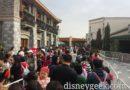 DisneyTown Resort Guest Entrance Queue this morning