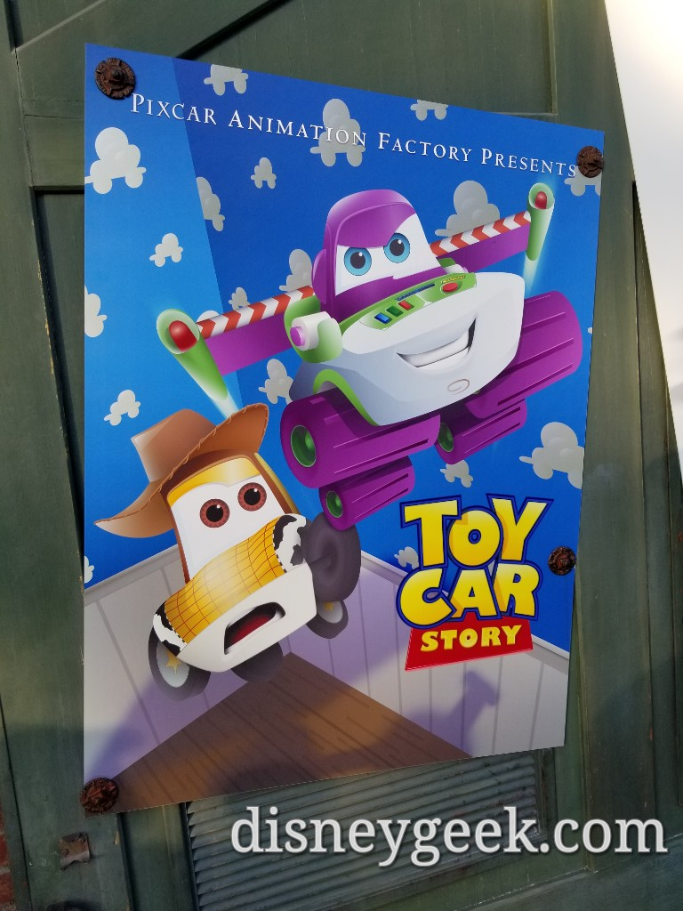 Toy Car Story Cars Amp New Movie Posters In Cars Land For
