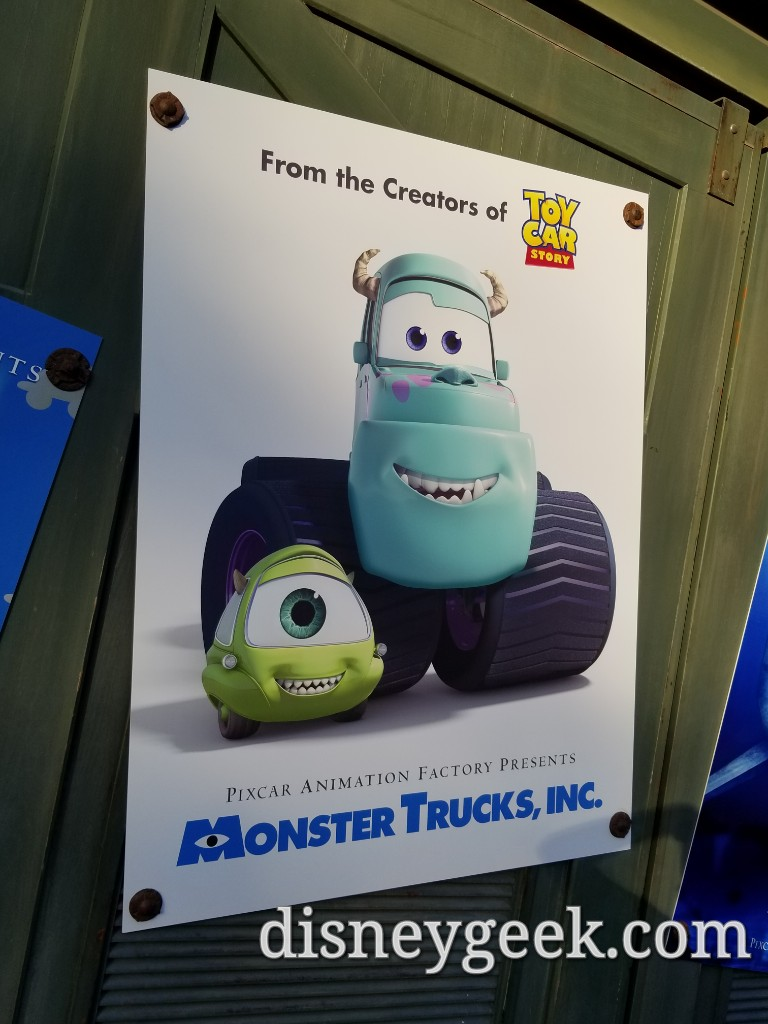 Toy Car Story Cars Amp New Movie Posters In Cars Land For Pixarfest The Geek S Blog Disneygeek Com