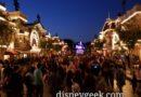 Disneyland Main Street USA this evening