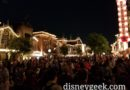 50+ minutes until Together Forever – Hub and north half of Main Street mostly full