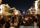 Main Street USA from near Cinema about 45 min before show time it is filling in