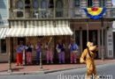Pluto dancing with the Straw Hatters at Disneyland