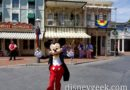 Mickey Mouse conducting the Disneyland Straw Hatters