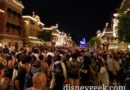 Disneyland Main Street USA 30 minutes prior to Together Forever Fireworks