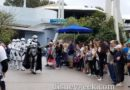 March of the First Order through Disneyland Tomorrowland