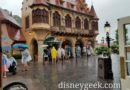 Found some cover in Germany at Epcot to avoid a cloud burst