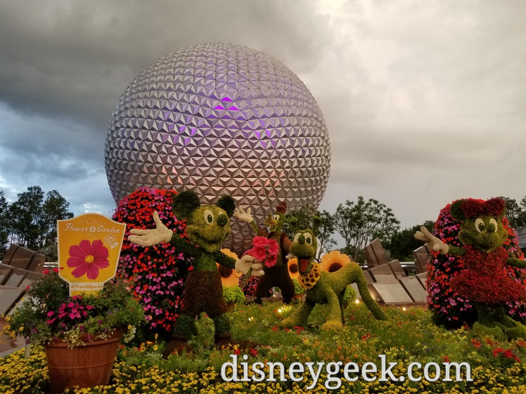 Epcot entrance topiaries for the International Flower & Garden ...