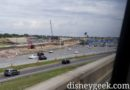 World Drive / Magic Kingdom Entrance Roadwork from Monorail