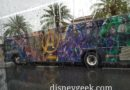 Avengers Infinity War wrapped bus at a rainy Disney Springs