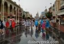 Arriving at a rainy Magic Kingdom this evening