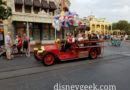 Main Street USA Firetruck making the rounds tonight at the Magic Kingdom