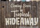 Tropical Hideaway Construction has Started in Adventureland (several pictures of the wall art)