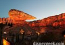 Ornament Valley in Cars Land as the sun is setting