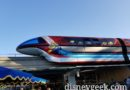 Monorail Red features Toy Story Little Green Aliens for Pixar Fest