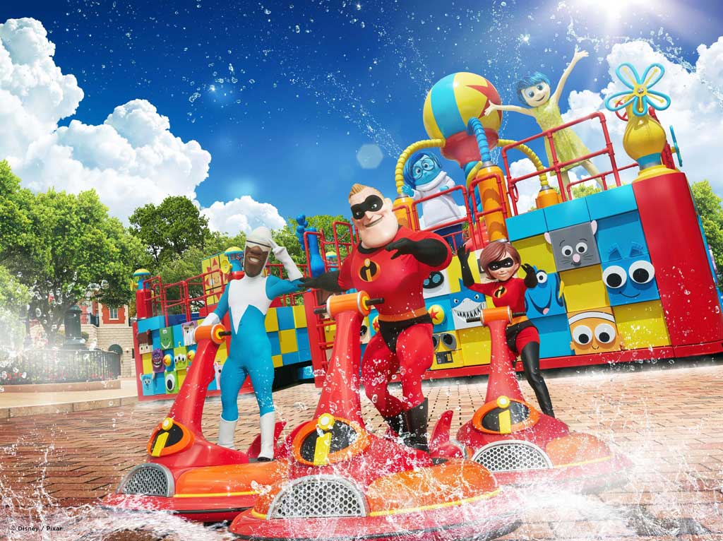 Hong Kong Disneyland - Pixar Water Play Street Party