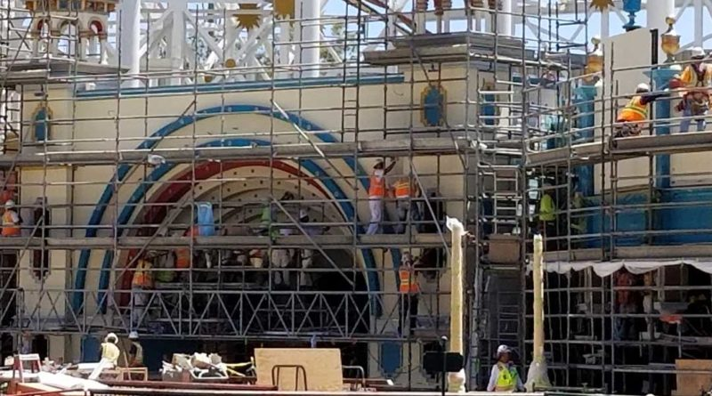 Pixar Pier Construction