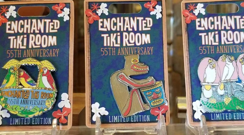 Tiki Room 55th Anniversary Pins