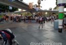 Walking through Disneyland  Tomorrowland this evening