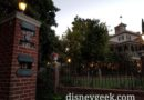 Haunted Mansion wait this evening
