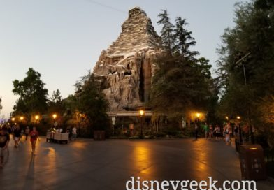 Passing by the Matterhorn at Disneyland