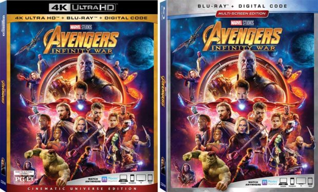 Avengers Infinity War Home Video