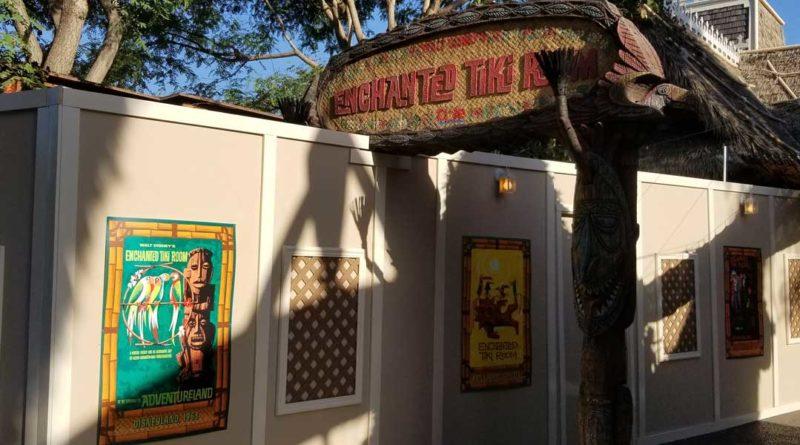 Enchanted Tiki Room Garden Construction Wall