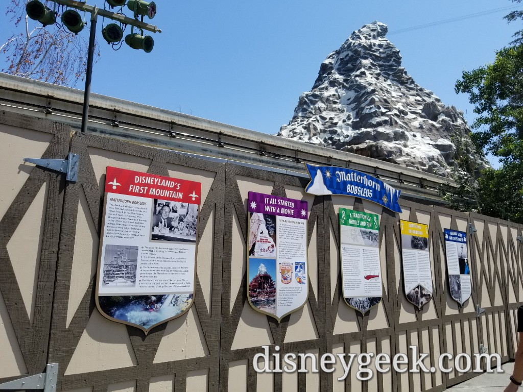 Matterhorn Is Currently Closed For Renovation At Disneyland The