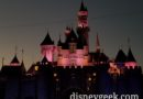 Disneyland Sleeping Beauty Castle this evening