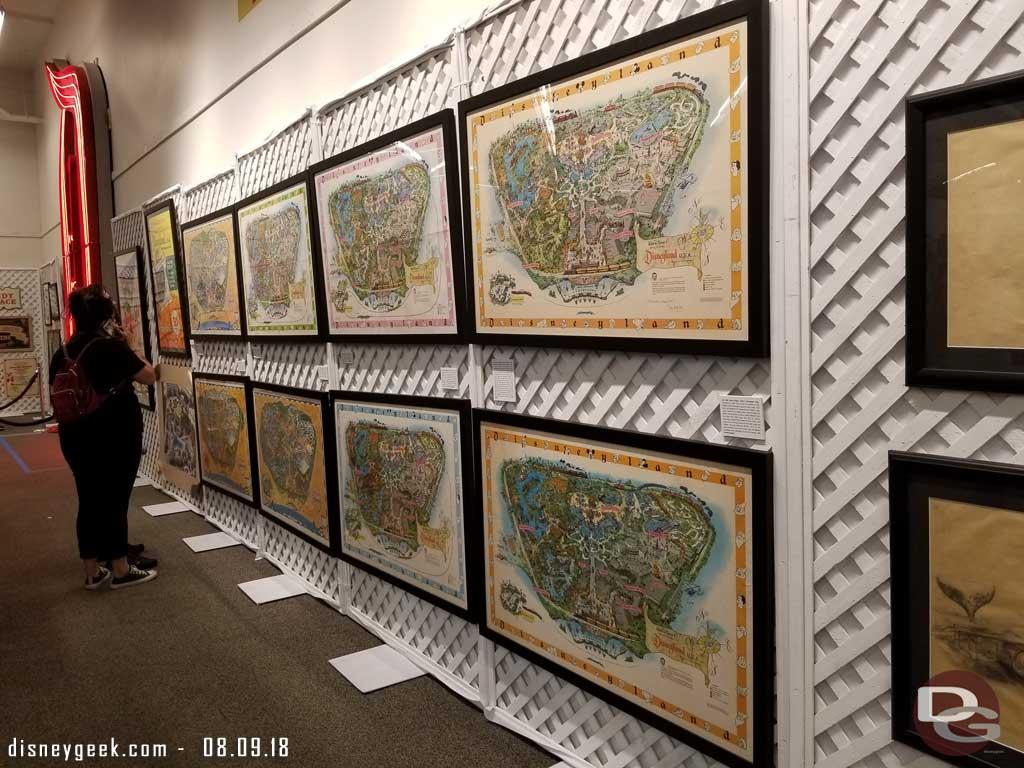 Disneyland Maps from various years.