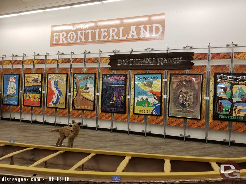 Frontierland Posters and Canoe