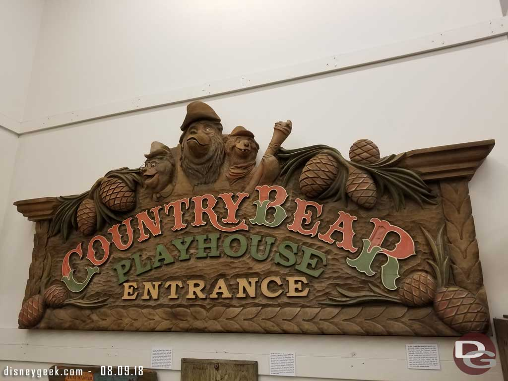 Country Bear Playhouse sign