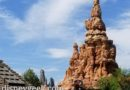 Disneyland Big Thunder with Star Wars: Galaxy's Edge spires in the distance