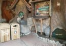 Sammy has set up a recycling corner near the exit of Splash Mountain